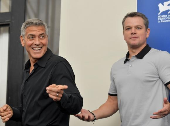 George Clooney en Venecia. Foto: AFP