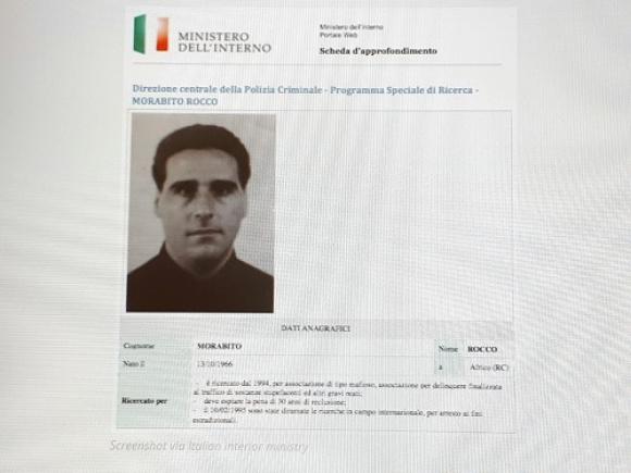 El mafioso italiano detenido en Uruguay. Foto: UNICOM