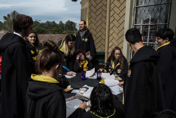 Como viven en diferentes estados de Brasil, muchos sólo volverán a verse en el encuentro del año próximo. Foto: AFP