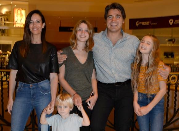 Guillermo Andino y su familia.
