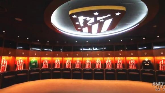 El nuevo vestuario del Atlético de Madrid en el Wanda Metropolitano. Foto: captura