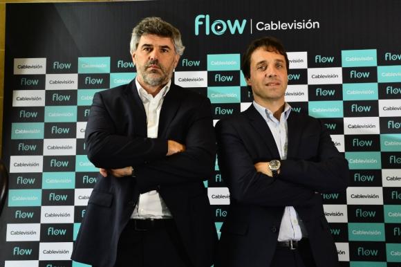 Guillermo Valente, Gerente General de Cablevisión Uruguay, y Gonzalo Hita COO de Cablevisión.