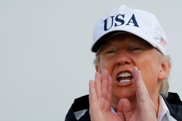 Donald Trump viajó a Florida por el Huracán Irma. Foto: Reuters