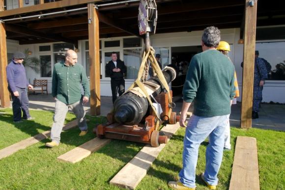 El cañón pesa más de 3000 kilos. Foto: Ricardo Figueredo