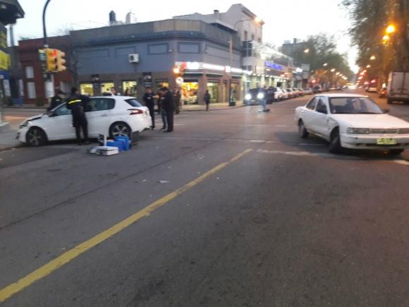 La persecución terminó en un accidente de tránsito. Foto: El País.