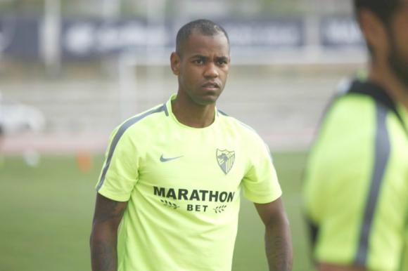 Diego Rolan en el entrenamiento de Málaga. Foto: malagacf.com