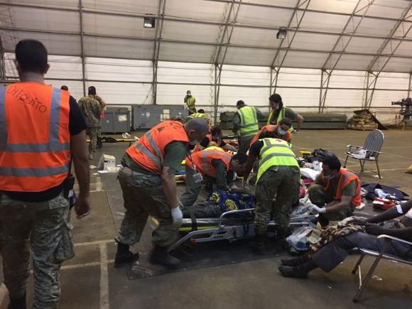Las instalaciones del aeropuerto de Kavumu fueron acondicionadas. Foto: Fuerza Aérea Uruguaya