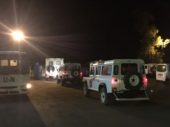 El número de heridos sobrepasó el número de ambulancias disponibles. Foto: Fuerza Aérea Uruguaya