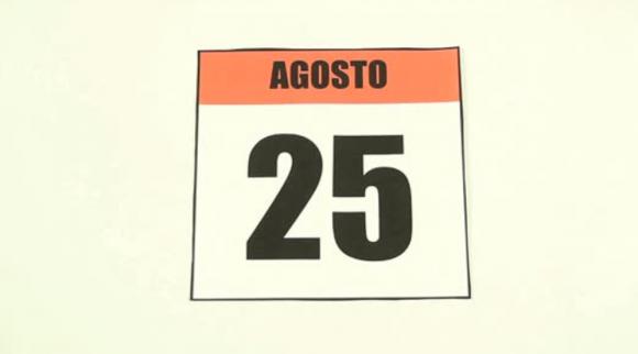 25 de agosto calendario