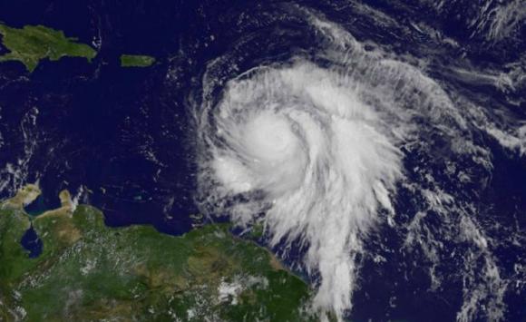 Imagen satelital del huracán María. Foto: Reuters.