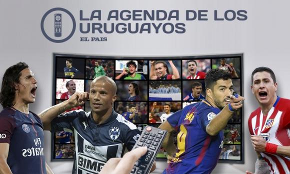 Verificá dónde ver los partidos de los uruguayos al rededor del mundo. Montaje: El País