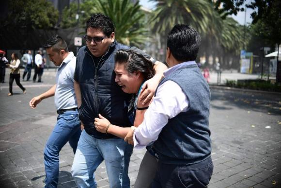 Terremoto  de 7,1 grados en México: Foto: AFP