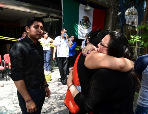 Terremoto en México. Foto:AFP