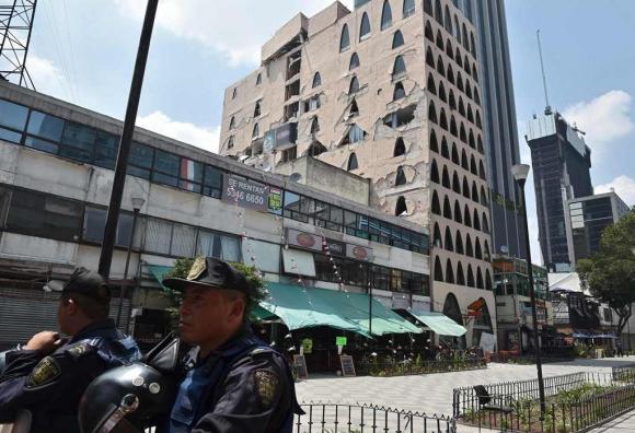 Daños por el terremoto en México. Foto: AFP