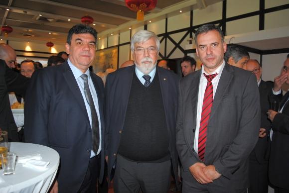 Mario Layera, Eduardo Bonomi, Yamandú Orsi.