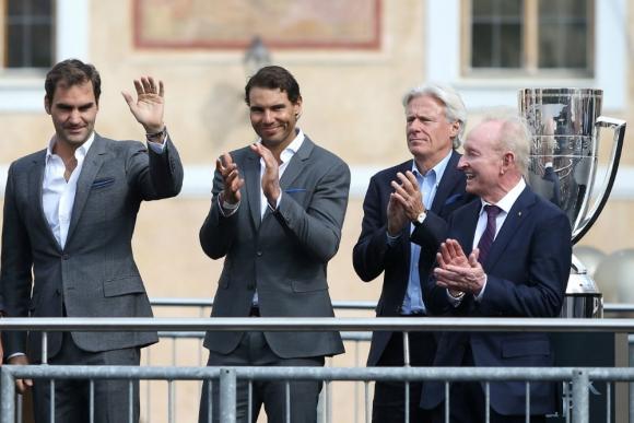 Nadal y Federer, juntos por primera vez