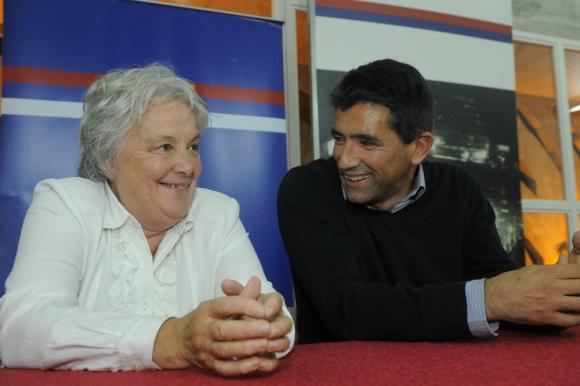 Lucía Topolansky y Raúl Sendic en 2014. Foto: Archivo El País.