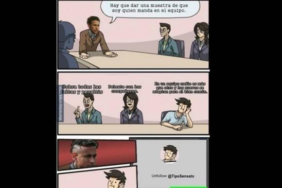 Memes sobre Cavani y Neymar