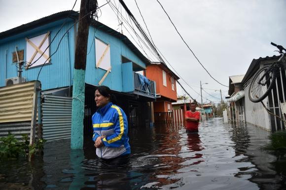Puerto Rico tras el huracán María. Foto: AFP