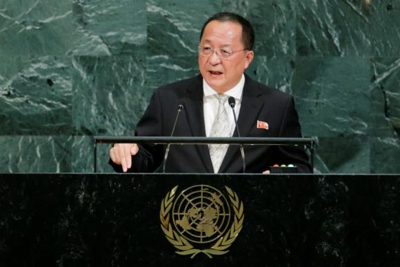 """""""La visita de nuestros cohetes"""" a Estados Unidos """"es inevitable"""", dijo Ri Yong Ho. Foto: Reuters."""