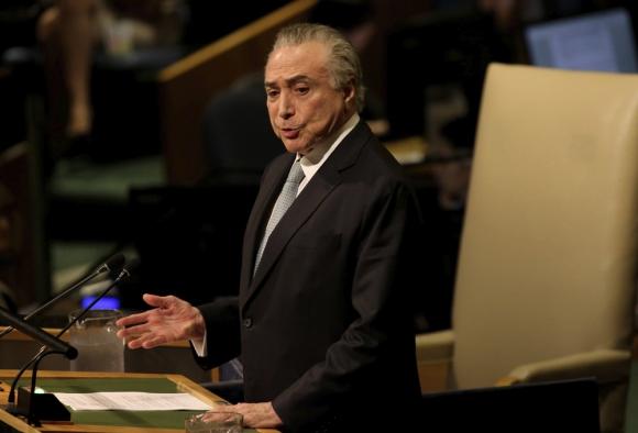 El presidente Temer en la Asamblea de la ONU. Foto: EFE
