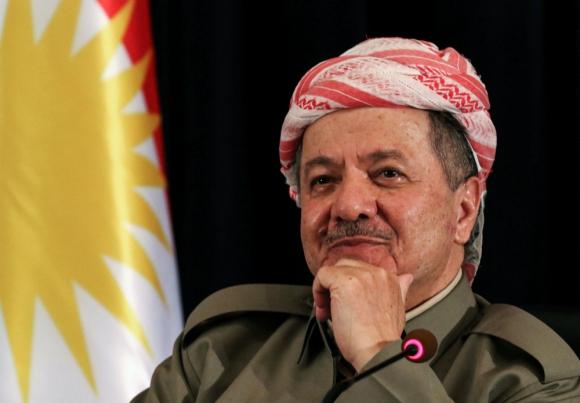 Masud Barzani, presidente del Kurdistán irakí. Foto: AFP.