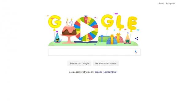 Google celebra 19 años