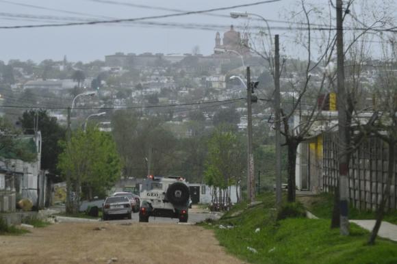 La Guardia Republicana realizó allanamientos en los barrios Borro y Marconi. Foto: Gerardo Pérez.