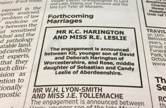 Anuncio publicado en el diario The Times