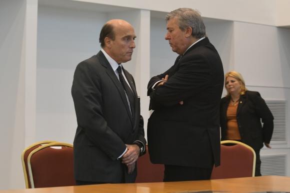 Daniel Martínez y Juan Salgado en abril. Foto: Ariel Colmegna.