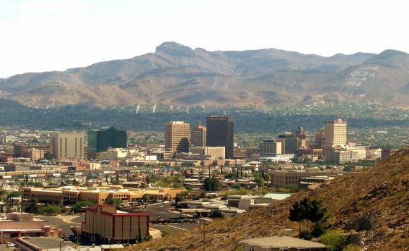 La ciudad de El Paso en Texas tiene unos 650.000 habitantes. Foto: Wikimedia Commons