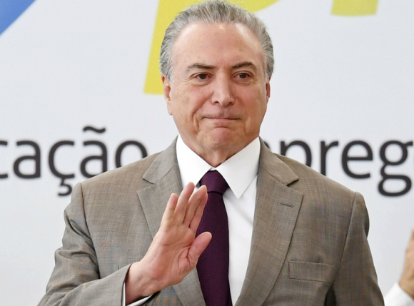 Temer: en comparación con gobierno de Rousseff, el presidente sale muy mal parado. Foto: AFP