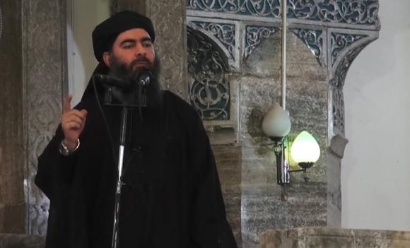 El líder terrorista volvió a aparecer tras versiones que lo dieron por muerto. Foto: AFP