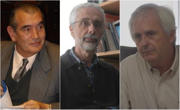 Expertos: Ariel Davrieux, Álvaro Forteza, y Rodolfo Saldain. Fotos: Archivo El País