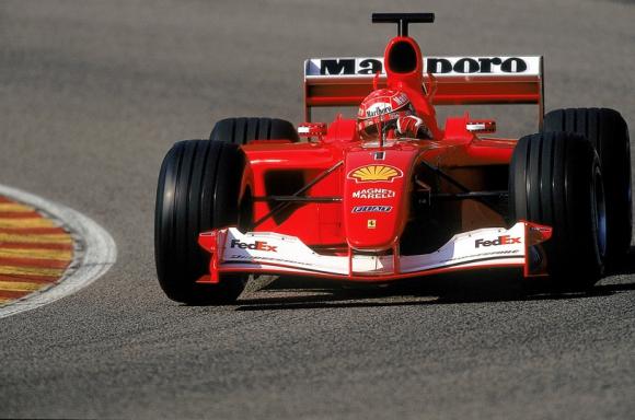 Se trata del Ferrari F2001 con el número de chasis 211, con el que el heptacampeón del mundo del 'Gran Circo' cosechó la victoria en los Grandes Premios de Mónaco y Hungría.(Foto: AFP)