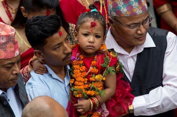 Trishna Shakya la nueva diosa Kali. Foto: EFE