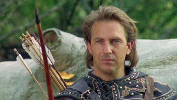 """Kevin Costner en """"Robin Hood: príncipe de los ladrones"""""""