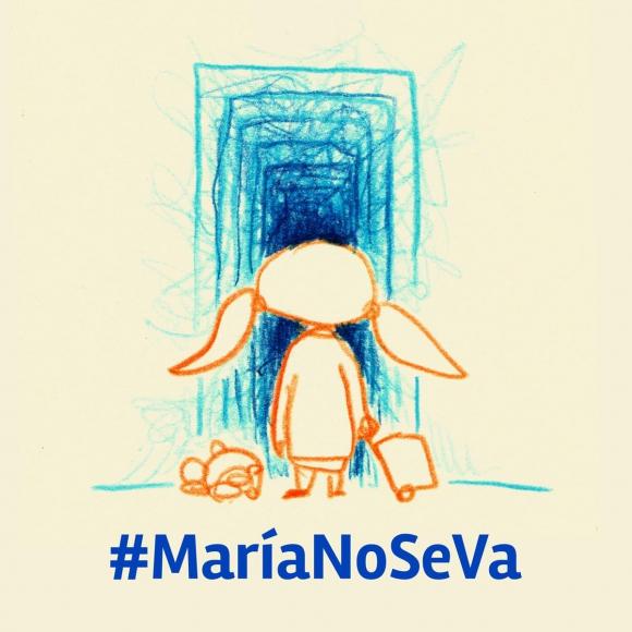 Colectivos inician campaña para evitar el traslado de María y su hija. Foto: Twitter