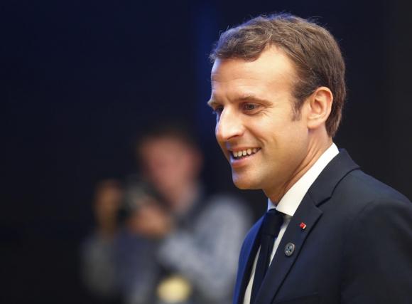 Emmanuel Macron en reunión de la UE en Estonia. Foto: Reuters
