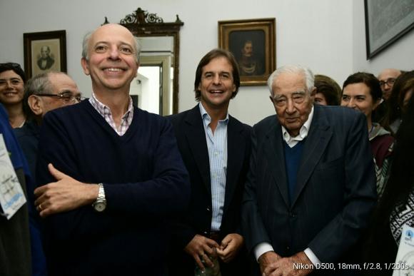 Luis Lacalle Pou, Javier García y Carlos Julio Pereyra. Foto: Marcelo Bonjour