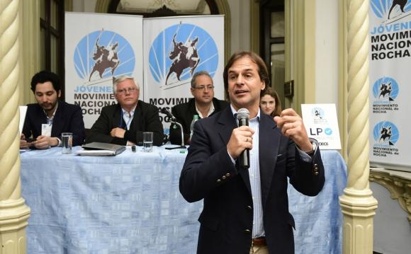 Luis Lacalle Pou criticó la postura del intendente Agustín Bascou. Foto: M. Bonjour