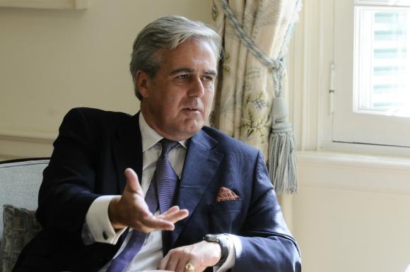Ministro británico tuvo reuniones con tres jerarcas de gobierno para extender relación. Foto: D. Borrelli