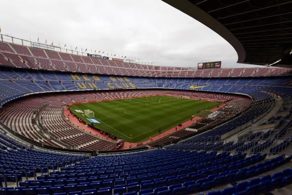 Camp Nou: El Barcelona ganó pero sin público en las tribunas. Foto: EFE