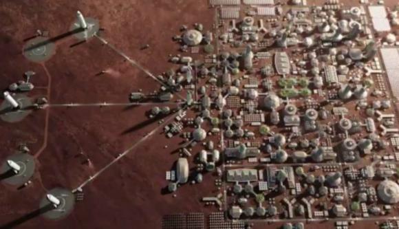 Space X mostró cómo sería la colonización del planeta rojo. Foto: Captura