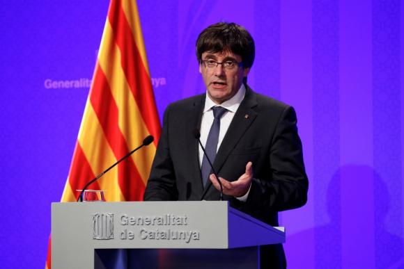 Carles Puigdemont, presidente regional de Cataluña. Foto: Reuters.