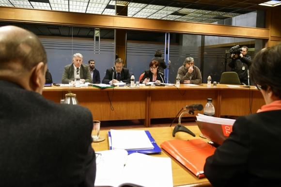 El directorio de ASSE concurrió por primera vez a la investigadora en el Parlamento. Foto: F. Ponzetto