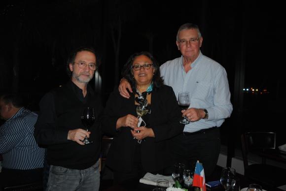Raúl Ramírez, Ana Burgos, Daniel Lussich.