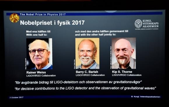 Premio Nobel de Física. Foto: AFP