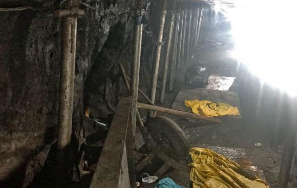 El túnel, de unos 600 metros, había sido construido a partir de una casa cercana. Foto: AFP