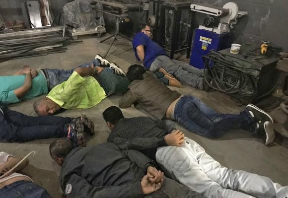 La policía de San Pablo detuvo a dieciséis personas por el intento de robo. Foto: AFP